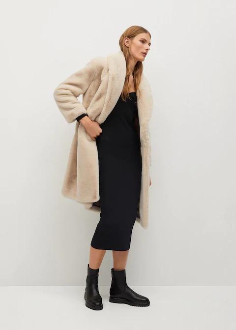 Tüylü Uzun Palto 1