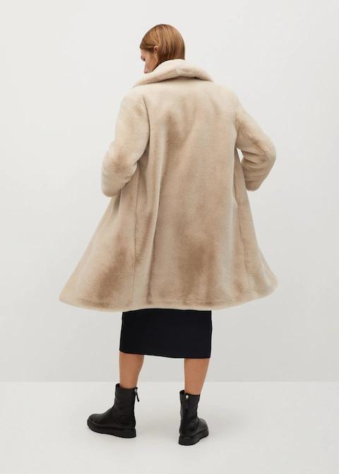Tüylü Uzun Palto 2
