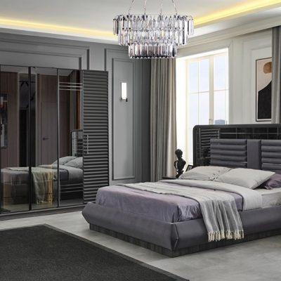Asel Yatak Odası Takımı (Antrasit)