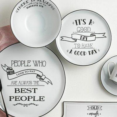 Porland Be Happy 31 Parça 6 Kişilik Kahvaltı Takımı